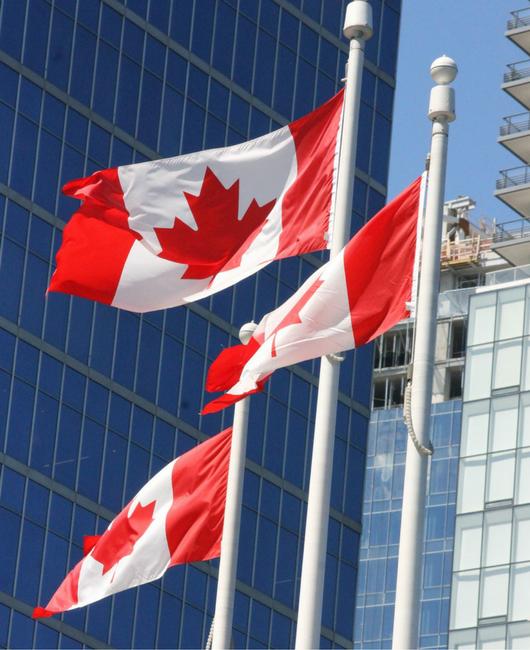 Canada 3 flags